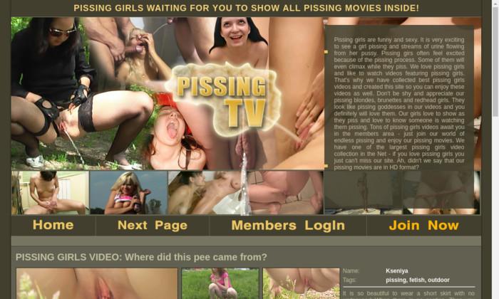 pissing tv