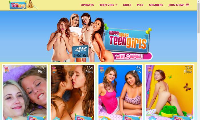 happy naked teen girls