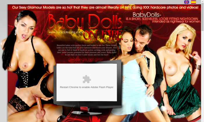 baby dolls on fire