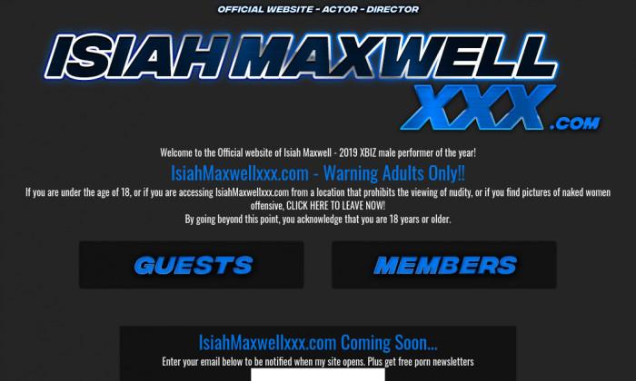 isiah maxwell xxx