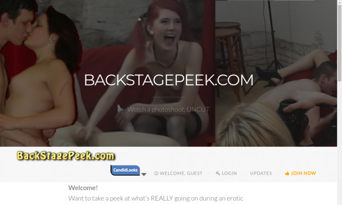 backstage peek