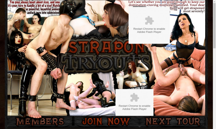 strapon tryouts