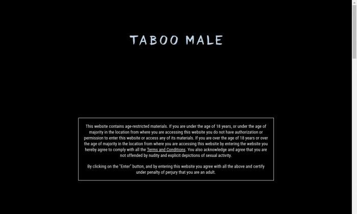 taboo male